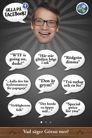 Göran säger