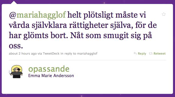 Emma Marie Anderssons svar