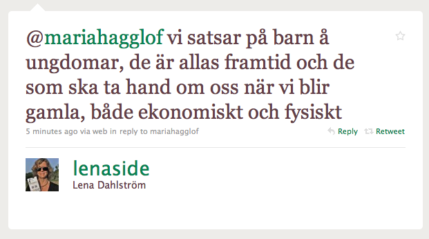 Svar från Lena Dahlström
