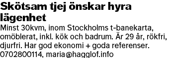 Annons i DN